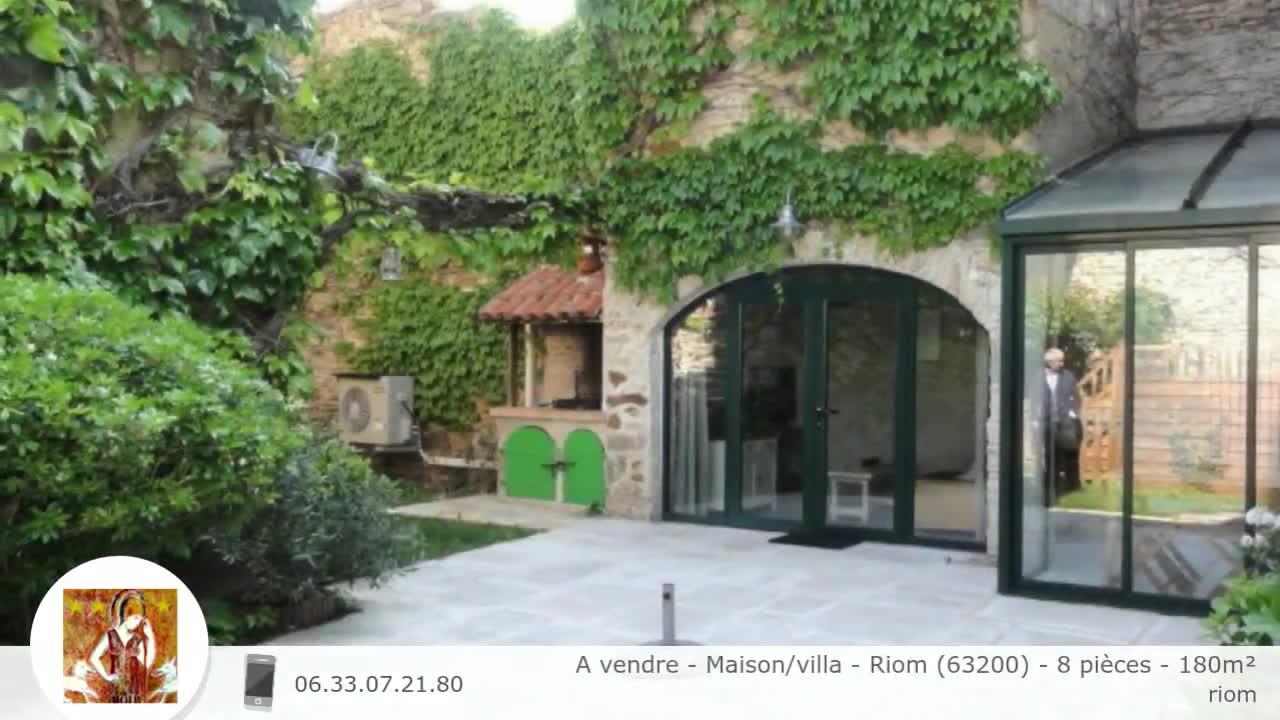 A Vendre Maison Villa Riom 63200 8 Pieces 180m