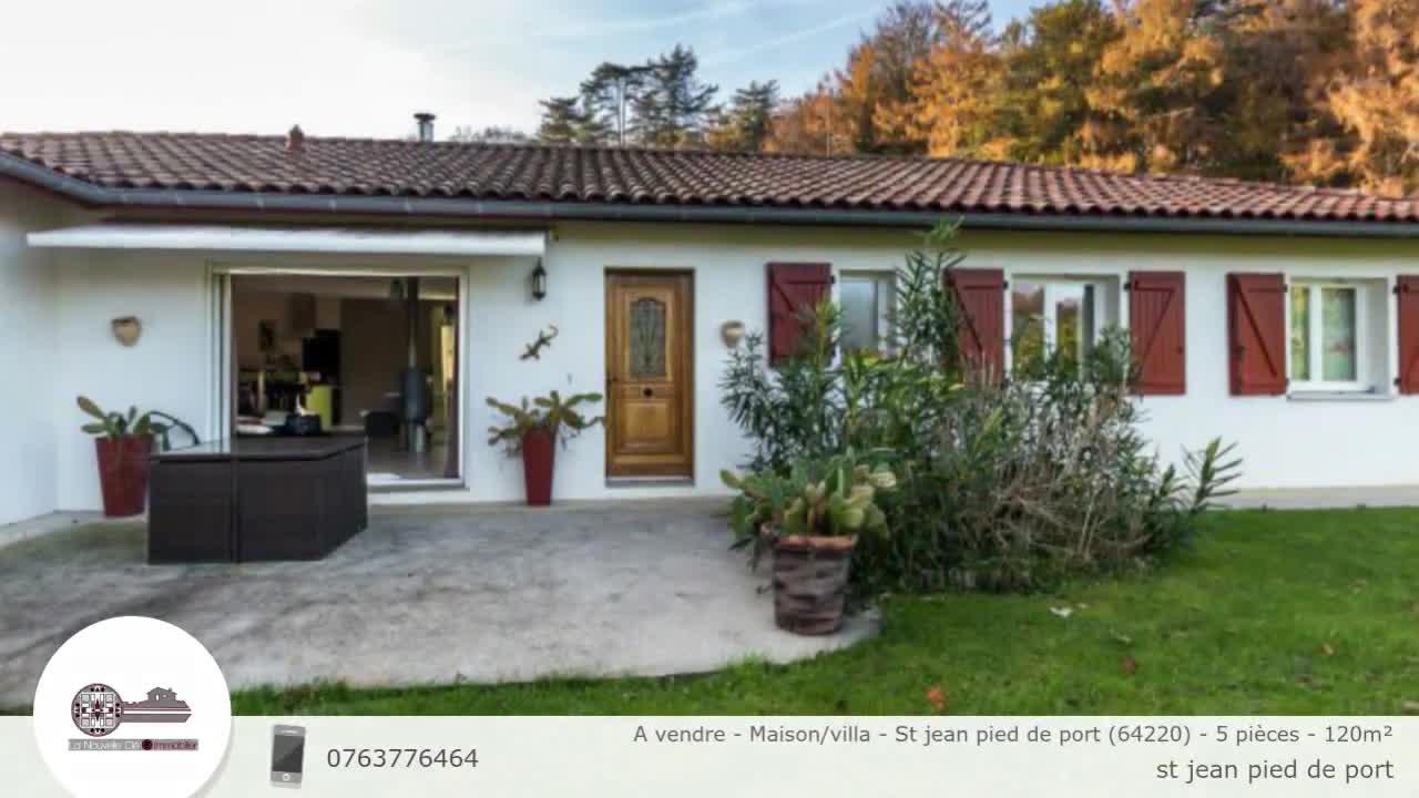 A vendre maison villa st jean pied de port 64220 5 pi ces 120m - Maison a vendre saint jean pied de port ...